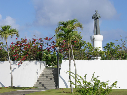 Oka Point Loop Statue of Archbishop Flores | by Guampedia.com