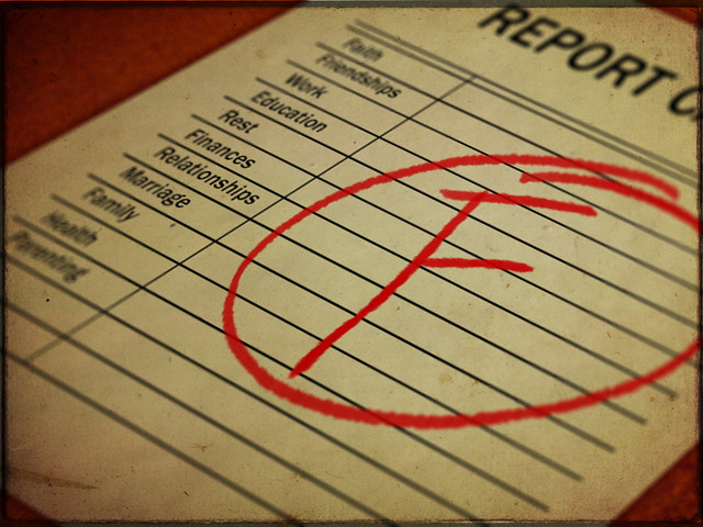 Image result for fail report card