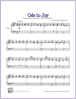 Ode to Joy (Beethoven) | Free Sheet Music for Easy Piano | by ...