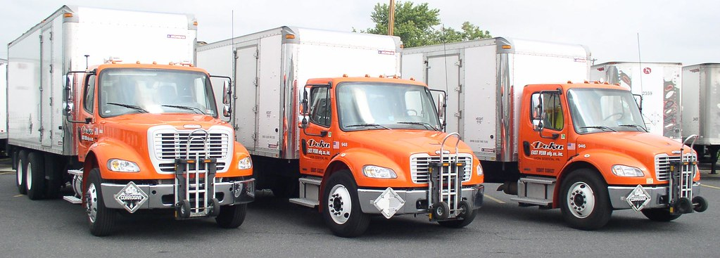 Freightliner M2 Deka Batteries Route Delivery Trucks Flickr