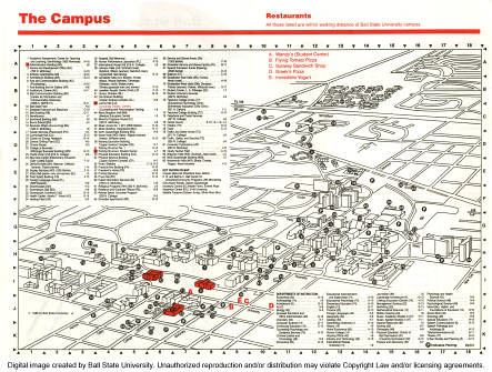 Map of Ball State University, 1988 | To learn more, visit th… | Flickr