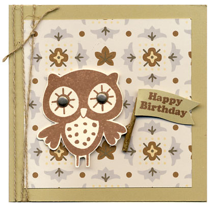 Little Owl Happy Birthday Card Made Using The Little Owl S Flickr