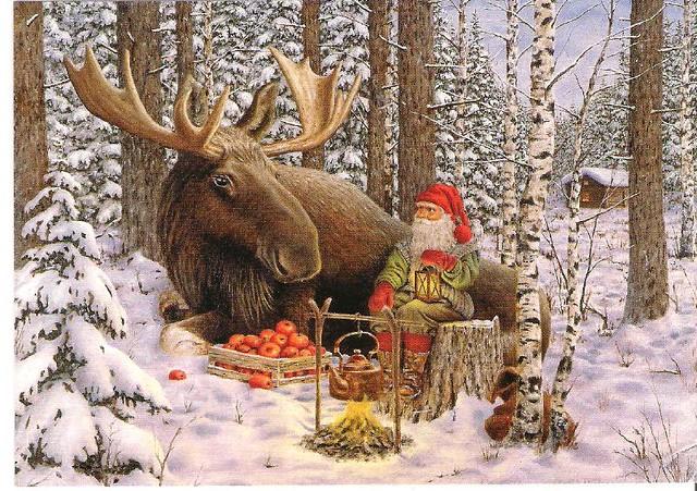 christmas moose by jan bergerlind