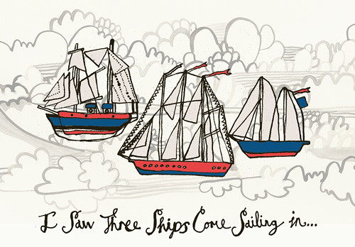 i saw three ships come sailing in by julie annis