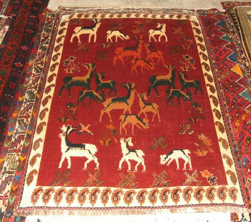 Qashqai Deer Persian Rug Carpetbeggers 513 Mitchell