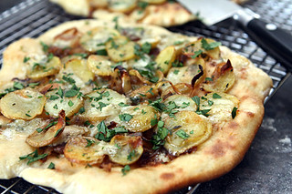 potato blue cheese pizza | by David Lebovitz