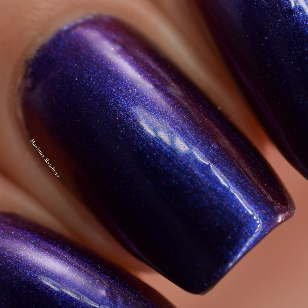 Blue to purple shifting nail polish