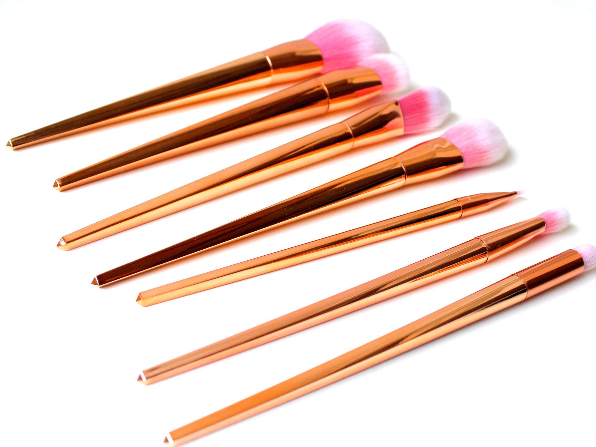 Rosegold pink brushes