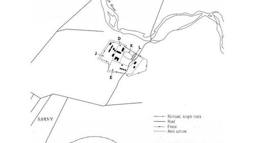 план військових казарм уСарнах, Рівненська область, 1964рік