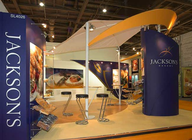 Exhibition Stand Europe : Jacksons bakery exhibition stand european con