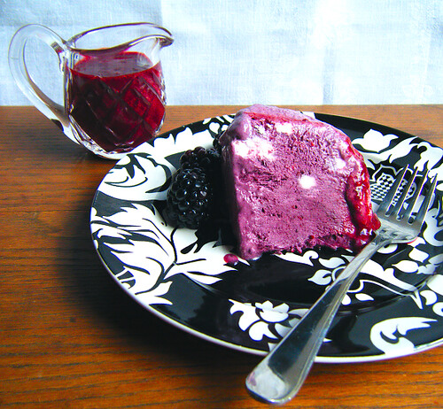 Healthy Blackberry Ice Cream (Semifreddo Style) | by HealthyIndulgencesBlog
