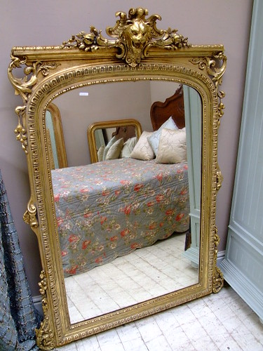 Large Antique French Lion Mirror | by frenchfinds.co.uk
