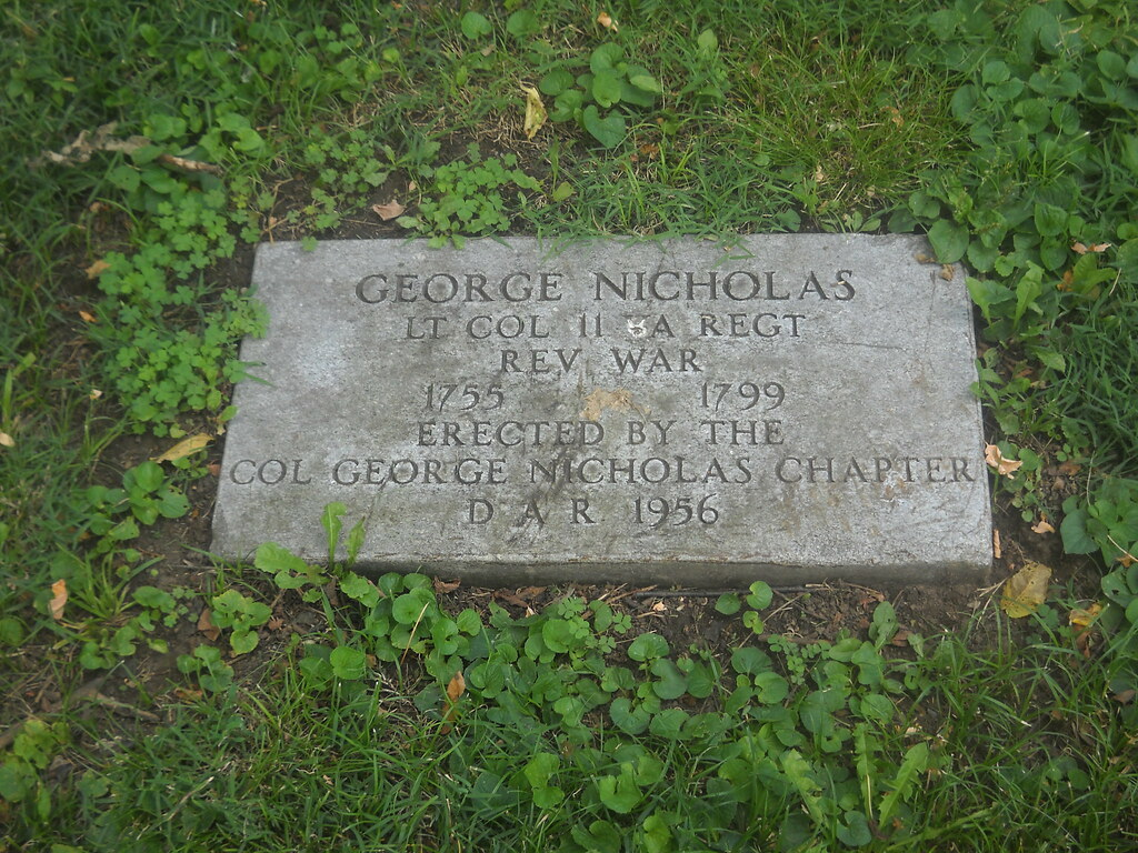 George Nicholas He Was A Soldier In The Revolutionary