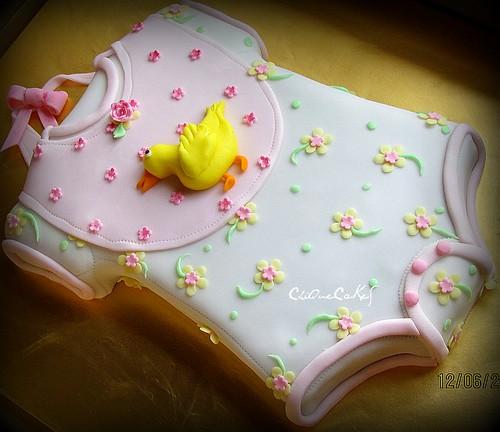 Make Baby Onesie Cake