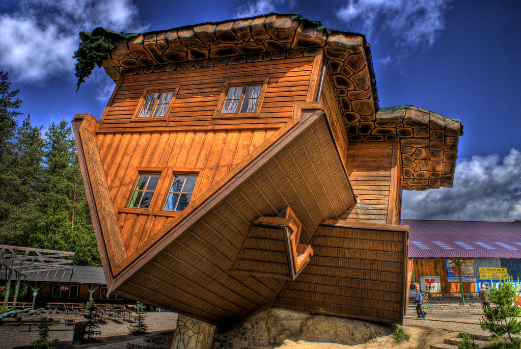 The upside down house poland mark rodseth flickr The upside house