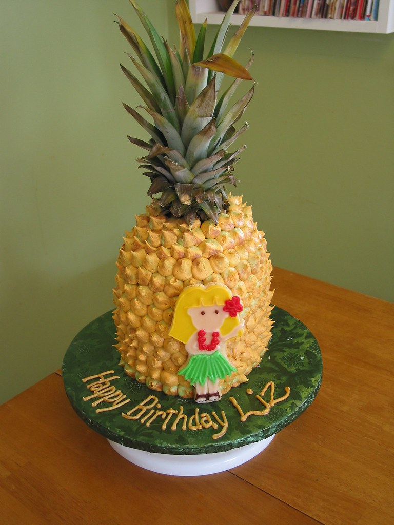 pineapple shaped cake pineapple cake made for my niece s birthday that s a 6546