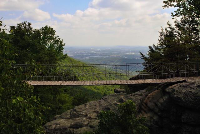 The swing along bridge rock city georgia set of 3 for Swing set bridge