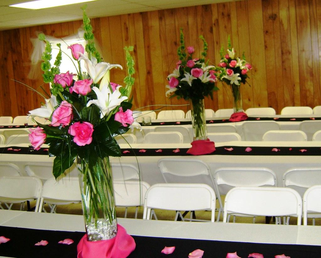 Church hall wedding