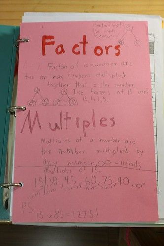 factors and multiples notebooking | by jimmiehomeschoolmom