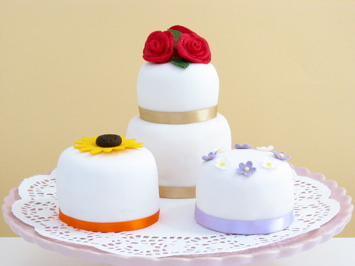 Assortment of Mini Cakes for Mum and Dad's Wedding Anniversary | by gilly.flower / Gill Smith