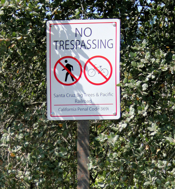 Private Property Sign With Pole