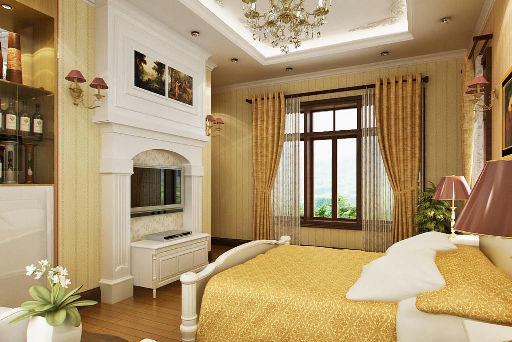 Hotel bedroom designed and rendered by dang khoi jinkazamah flickr - Camere da letto stile liberty ...