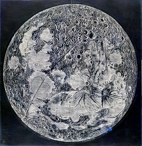 Map of the moon invert...