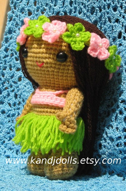 Crochet Pattern to make Healani Hula Girl Doll. Level: Beginner ... | 500x330