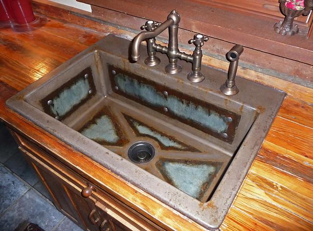 concrete farm sink | To see more concrete countertops ...