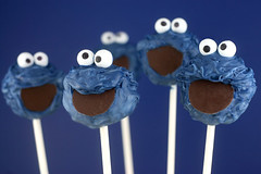 Cookie Monster Cake Pops | by Bakerella