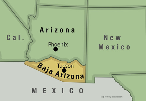 Baja Arizona map | by Lost States