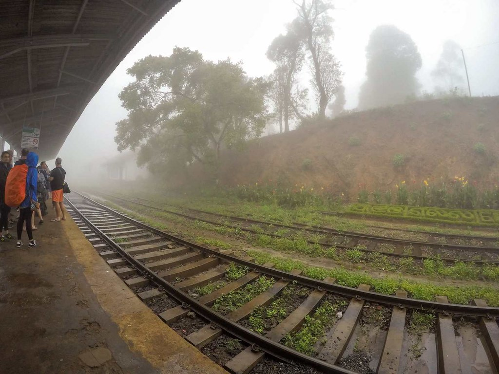 Railway station in Ella, Sri Lanka