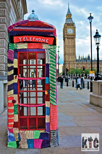 Knit the City - Phonebox Cosy | by Deadly Knitshade