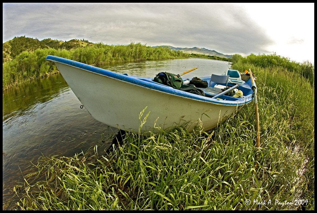 Drift Boat   Drift boat owned by Randall Crane on the Missou