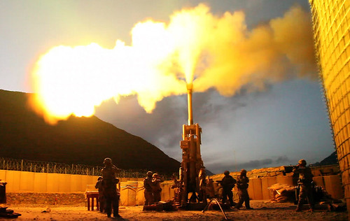 Firing rounds with an M777 Howitzer | by The U.S. Army