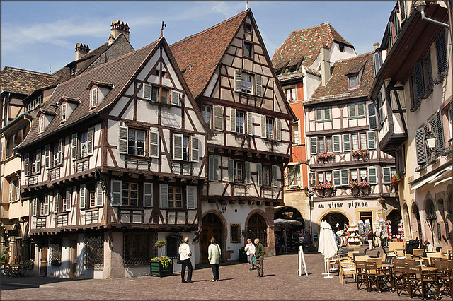 half timbered houses in colmar half timbered houses in col flickr. Black Bedroom Furniture Sets. Home Design Ideas