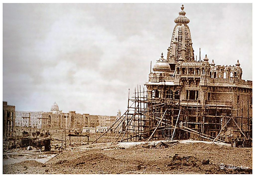 Baron Empain Palace Under Construction In 1909 | Tulipe ...