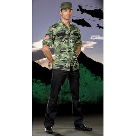 sexy sergeant lou tenet military halloween costume for men by halloween costumes 2009