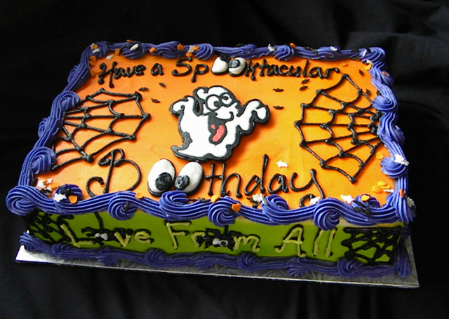 Halloween Birthday Sheet Cake Giggy S Cakes And Sweets