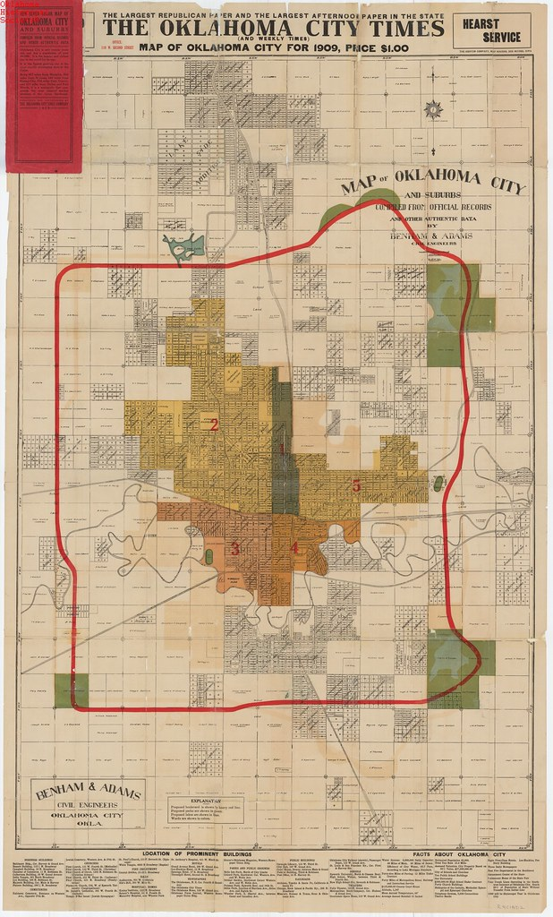 Oklahoma city map 1909 date 1909 ohs map collections www flickr oklahoma city map 1909 by oklahoma historical society research gumiabroncs Image collections