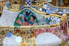 Benches at Park Guell by Antonio Gaudi | by Alex E. Proimos
