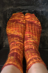 socks of fire | by knitfaced