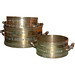 """Set of 11 George IV graduated bronze capacity county measures, by Bate, London (maker of the Exchequer standards) """"City of Lichfield"""" 1824"""