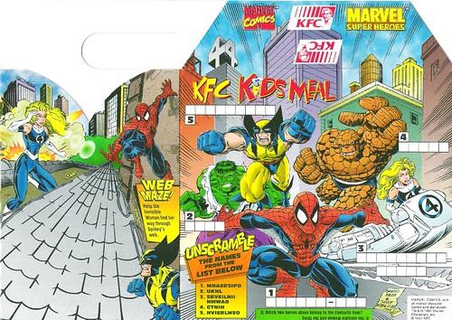 Kfc Logo 1997 Kfc Kids 39 s Meal Marvel 1997