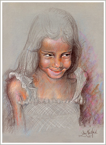 Sketch of Shy Girl | by Greg from Maine