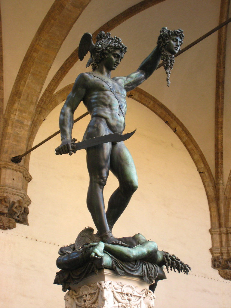 Bronze Statue Of Perseus Holding Medusa S Decapitated Head