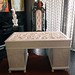 4157 WHITE HANDCARVED BAROQUE DESK