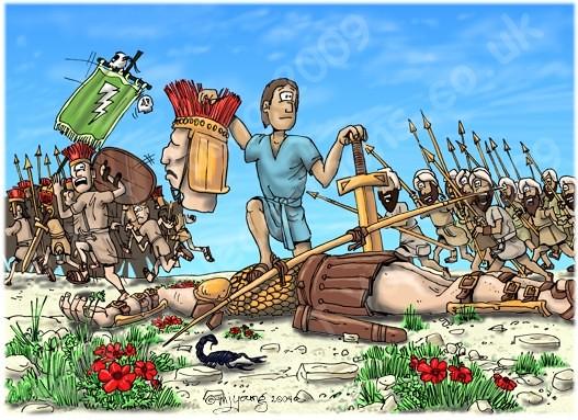 1 Samuel 175051 Scene 11 Goliath beheaded 1 Samuel