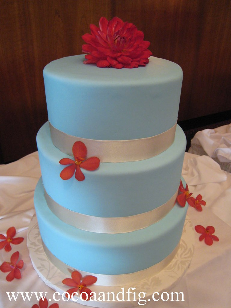 wedding cakes red aqua blue and wedding cake cocoa amp fig flickr 25346