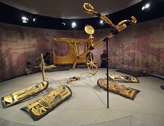 Chariot and shields, King Tut exhibit | by lreed76